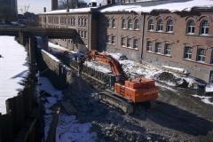 Betonimuurin vasarointia Tampereella