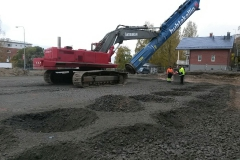 Liikerakennuksen pohjat Tampereella